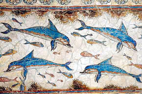 Akrotiri dolphins in Knossos palace